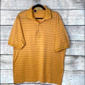 NWOT Paul Stuart Italy made Cotton Polo Shirt L